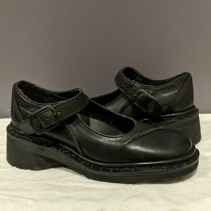Dr. Martens 9266 black leather Mary Jane's